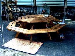 diyers projects octagonal picnic table project made by jennifer
