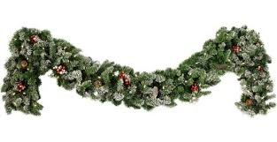 Pre Decorated Christmas Garland Decorative Garland Hawthorne Prelit Christmas Garland Clear Lights