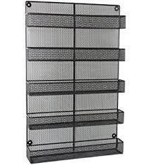 Extra Large Spice Rack Amazon Com 4 Tier Black Country Rustic Chicken Wire Pantry