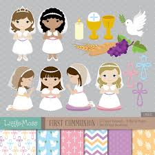 first communion digital clipart and papers communion