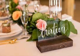 acrylic table numbers wedding modern wedding table number idea acrylic table numbers moon back