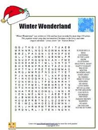 word search featuring the words in