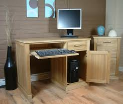 Pedestal Computer Desk Mobel Oak Single Pedestal Computer Desk Mobel Oak Home Office