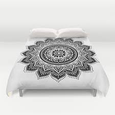 black and white mandala duvet cover available in twin 68 x 88