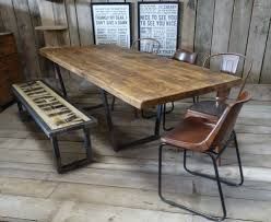 Plank Dining Room Table Industrial Rustic Calia Style Dining Table Vintage Reclaimed Wood
