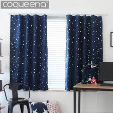 window drapes modern star pattern blackout curtains for living room bedroom kichen