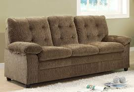 charley sofa in brown chenille fabric by homelegance