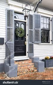 new orleans front door brick steps stock photo 550694602