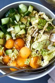 napa salad melon cucumber napa cabbage slaw recipe eatwell101