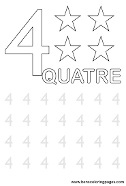 learn to write number four in french