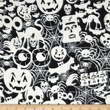 timeless treasures glow in the dark halloween collage black