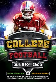 college football flyer template vol 2 for photoshop
