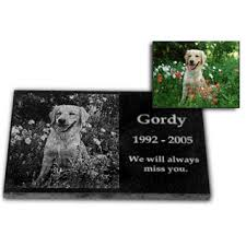 dog memorial personalized photo etched pet memorial
