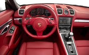 porsche red interior car picker porsche boxster interior images