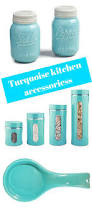 Blue And White Kitchen Canisters Best 10 Turquoise Kitchen Decor Ideas On Pinterest Teal Kitchen