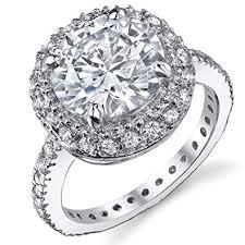 cubic zirconia engagement rings 3 carat brilliant cubic zirconia cz sterling