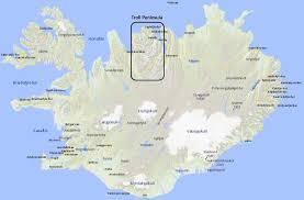 Europe Peninsulas Map Iceland 24 Iceland Travel And Info Guide Tröllaskagi Troll