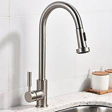 cool kitchen faucets best commercial stainless steel single handle pull out sprayer