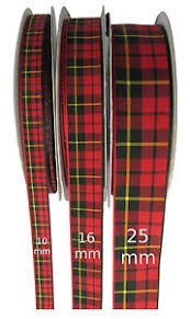 tartan ribbon wallace tartan ribbon various widths cut lengths and 20m reels