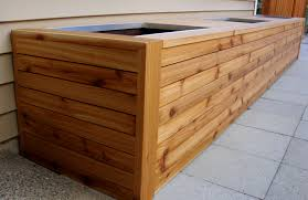 Planter Bench Seat Planters Amusing Cedar Planter Box For Sale Square Wood Planter