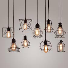 Vintage Ceiling Lights New Edison Iron Vintage Ceiling Light Fitting Lamp Bulb Cage Bar
