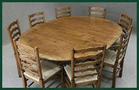 Handmade Kitchen Table Oval Oak Table 6 Chairs Oval Oak Dining Table And Chairs Early