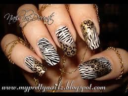 zebra pattern nail art easy hot leopard zebra animal print nail art stamping design