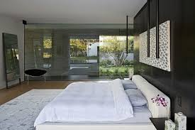 miroir dans chambre à coucher chambre à coucher chambres coucher luxe moderne lit blanc vitre
