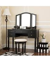 Mirrored Vanity With Drawers Amazing Deal On Fineboard Dressing Set With Stool Beauty Station
