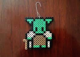 eb perler wars inspired 8 bit ornament yoda