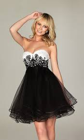 short strapless black u0026 white party dress a473 for sale cheap
