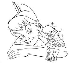 interesting peter pan tinkerbell coloring pages ideas