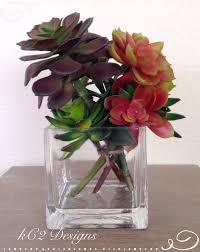 Fake Flowers For Home Decor Succulent Vase Succulent Artificial Flowers Silk Flower