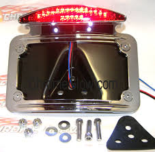 motorcycle license plate frame with led brake light curved fender mount motorcycle license plate frame with led brake light