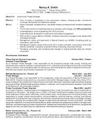 Assistant Project Manager Construction Resume by Smith Nancy Resume 01 2015