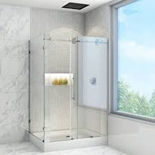 36 Shower Doors Vigo Winslow 36 X 48 In Frameless Sliding Shower Enclosure With
