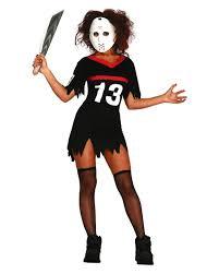 hockey ladies costume with mask horror halloween costumes