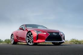 lexus sports car blue 2018 lexus lc 500 our review cars com