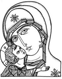 assumption mary coloring coloriage assomption catholic