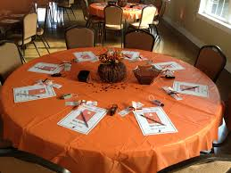 halloween themed baby shower table setup 1 our events
