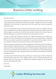 writing a business letter the best letter sample