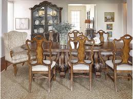 a r t furniture inc continental 9 piece double pedestal dining