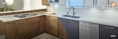 Kitchen Cabinet Installation Cost Home Depot by Kitchen Cabinet Installation Services The Home Depot Canada