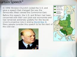 What Is The Iron Curtain Speech Us Ussr Relationship During Wwii Ppt Download