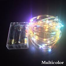 copper wire lights battery 2m 5m 10m led copper wire string lights led fairy lights christmas