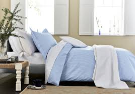 luxury blue gingham check bedding small check bed linen at