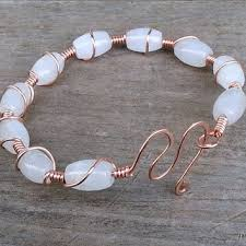 bangle bracelet beads images Shop wire wrapped stone bangles on wanelo jpg