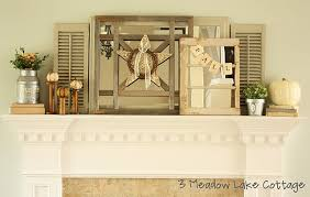 Rustic Mantel Decor Shabby Shares Saturday Link Party 10 1 11 Rustic Crafts U0026 Chic