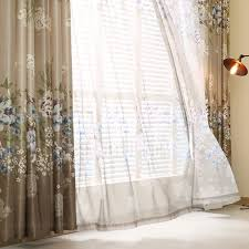 Curtains And Sheers Beautiful Sheer Curtains Blue And Purple Floral Print