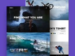 free adventure and sports website template psd at freepsd cc